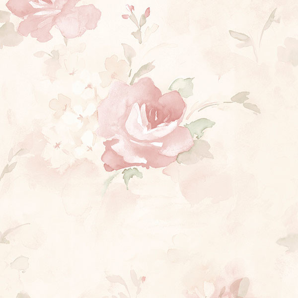 pink rose wallpaper wallcovering