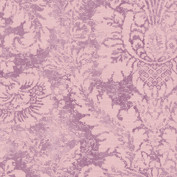 purple and pink damask wallcovering