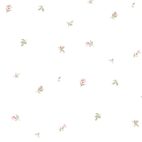little flowers on white wallpaper wallcovering
