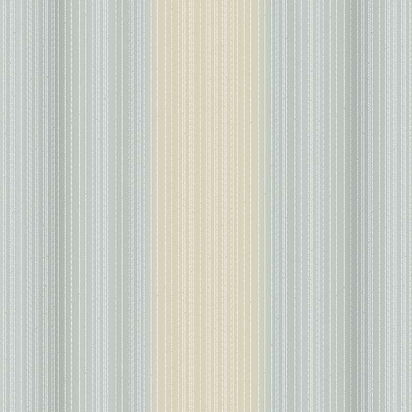 Blue and beige light reflective stripe wallcovering