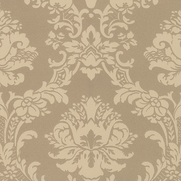small damask in gold and beige wallcovering