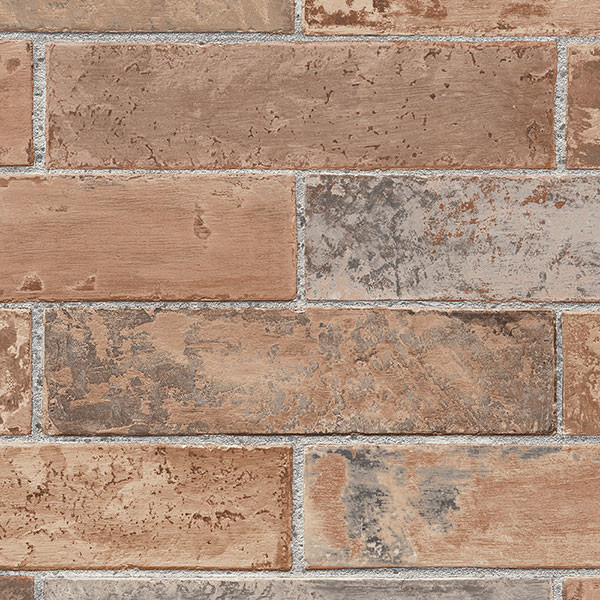 brown brick wallcovering