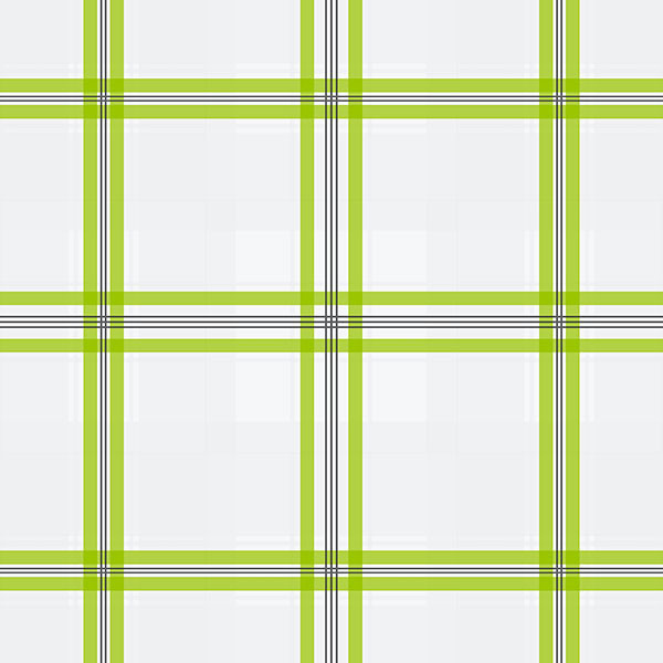 plaid in green and white wallcovering