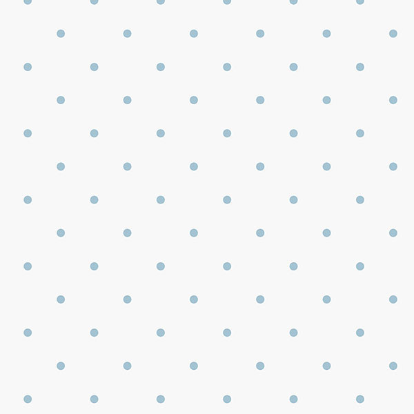 blue dots on white background wallcovering