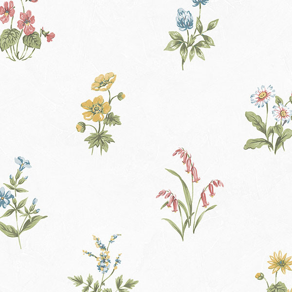 multi colour floral allover wallcovering
