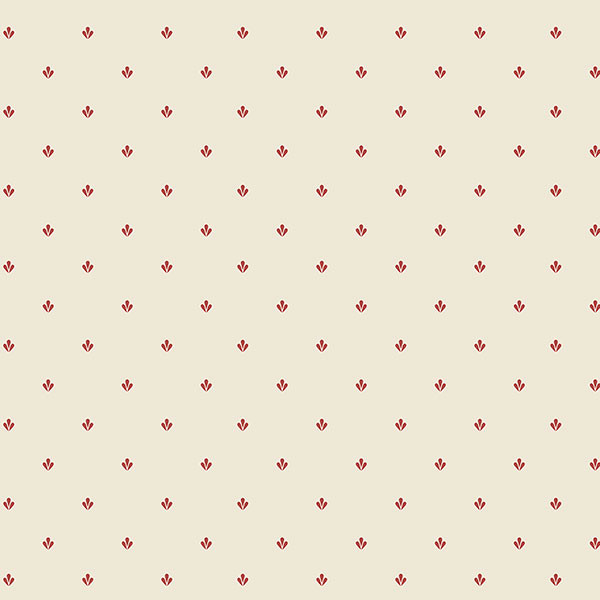 red and beige dot like wallcovering