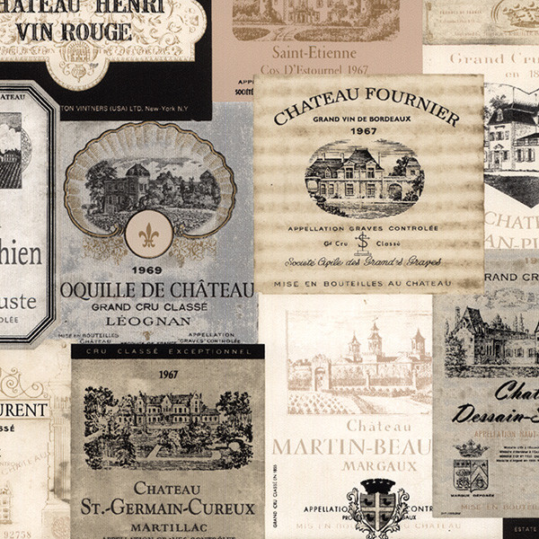 neutral wine labels wallcovering
