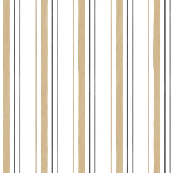black, beige and white stripe wallcovering