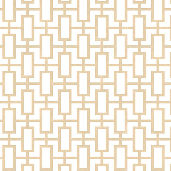 beige and white geometric wallcovering