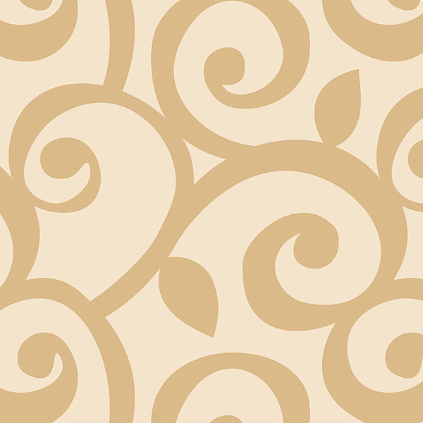 Beige swirls wallcovering