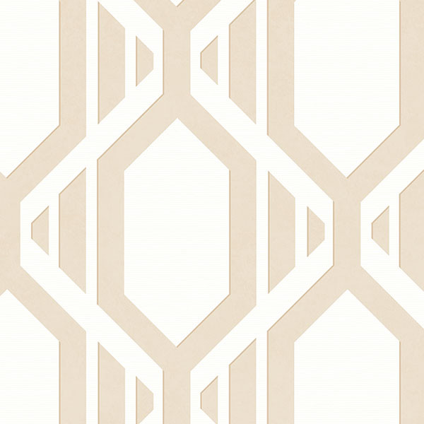 Taupe geometric wallcovering
