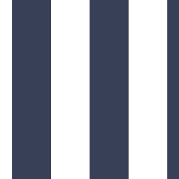 Navy and white tent stripe wallcovering