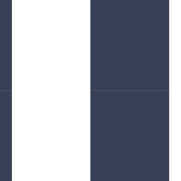 "Navy and white 5.25"" stripe wallcovering"