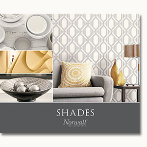 Cover for Shades collection of modern wallcoverings