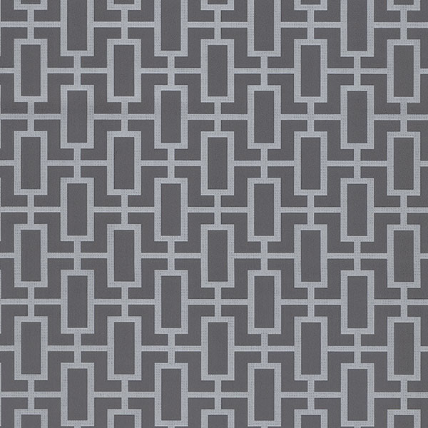 Silver and grey geometric wallcovering