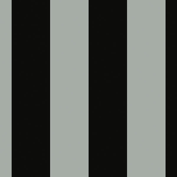 Black and silver stripe wallcovering