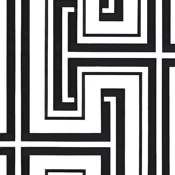 Black and white geometric wallcovering