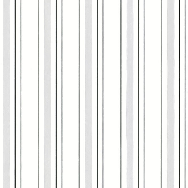 Black & White Stripe wallcovering